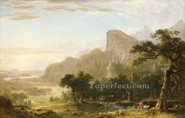 Landscape Scene From Thanatopsis Asher Brown Durand Mountain Oil Paintings