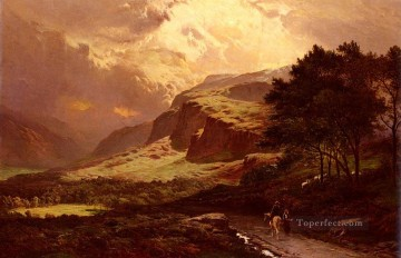 Lang Art - Langdale westmorland landscape Sidney Richard Percy Mountain