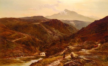 wales Art Painting - Moel Siabab North Wales landscape Sidney Richard Percy Mountain