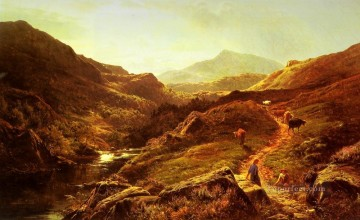 Moel Siabod from Glyn Lledr landscape Sidney Richard Percy Mountain Oil Paintings