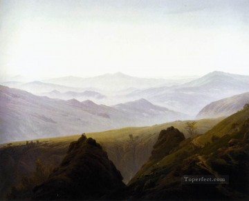 mountains Canvas - Morning In The Mountains Romantic landscape Caspar David Friedrich