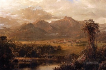 Mountain Painting - Mountains of Ecuador aka A Tropical Morning scenery Hudson River Frederic Edwin Church