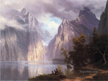 Scene in the Sierra Nevada Albert Bierstadt Mountain Oil Paintings