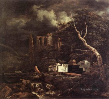 The Jewish Cemetary landscape Jacob Isaakszoon van Ruisdael Mountain Oil Paintings