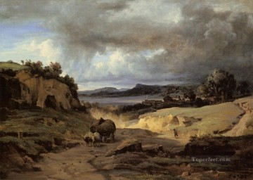 The Roman Campagna aka La Cervara Jean Baptiste Camille Corot Mountain Oil Paintings