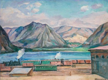 VIEW OF APATITY NEAR KIROVSK Petr Petrovich Konchalovsky landscape mountains Oil Paintings