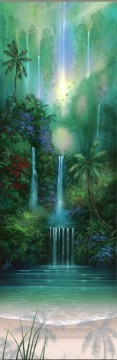 Mountain Painting - Wailini Falls rainforest mountains