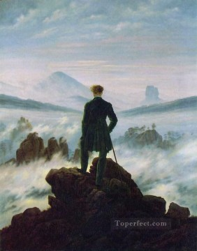 Wanderer above the Sea of Fog HSE Romantic landscape Caspar David Friedrich Mountain Oil Paintings
