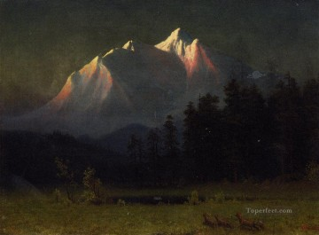 Western Landscape Albert Bierstadt Mountain Oil Paintings