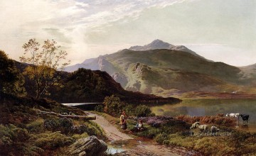 A Rest On The Roadside landscape Sidney Richard Percy Mountain Oil Paintings