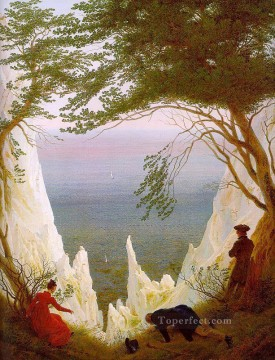 Cliffs Painting - Chalk Cliffs on Rugen Romantic landscape Caspar David Friedrich Mountain