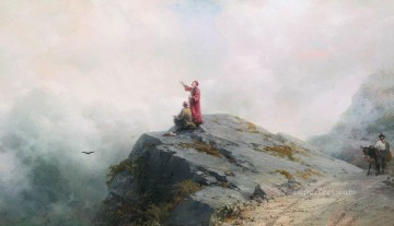 Mountain Painting - Ivan Aivazovsky dante shows the artist in the unusual clouds mountain