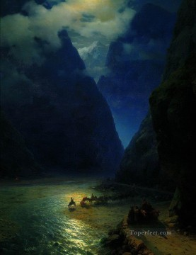Mountain Painting - Ivan Aivazovsky darial gorge mountain