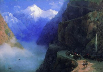 Mountain Painting - Ivan Aivazovsky roads of mljet to gudauri mountain