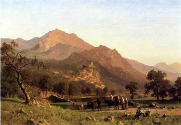 Rocca de Secca Albert Bierstadt Mountain Oil Paintings