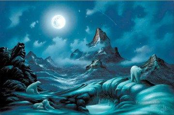 Lords of the Arctic mountains Oil Paintings