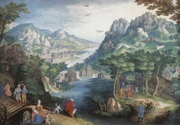 landscape Painting - Mountain Landscape with River Valley and the Prophet Hosea