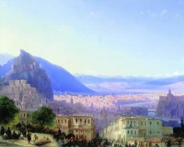 Mountain Painting - Ivan Aivazovsky view of tiflis mountain