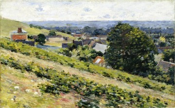 Plain Scenes Painting - From the Hill Giverny impressionism landscape Theodore Robinson