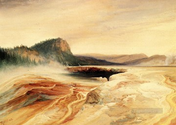 Giant Blue Spring Yellowstone landscape Thomas Moran Oil Paintings