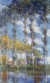 Poplars Claude Monet scenery