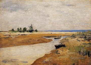 The Inlet Impressionist landscape John Henry Twachtman Oil Paintings