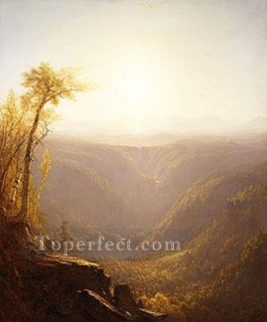Plain Scenes Painting - A Gorge In The Mountains scenery Sanford Robinson Gifford