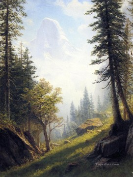 Plain Scenes Painting - Among the Bernese Alps Albert Bierstadt