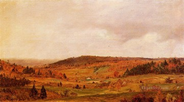Autumn Shower scenery Hudson River Frederic Edwin Church Oil Paintings