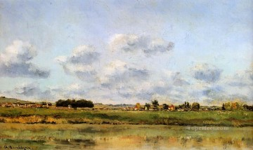 Daubigny Art - Banks Of The Loing Barbizon Impressionism landscape Charles Francois Daubigny