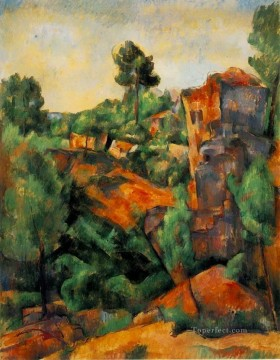 Plain Scenes Painting - Bibemus Quarry 1898 Paul Cezanne scenery