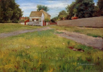 landscape Painting - Brooklyn Landscape impressionism landscape William Merritt Chase