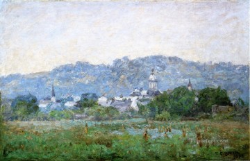 Plain Scenes Painting - Brookville Impressionist Indiana landscapes Theodore Clement Steele