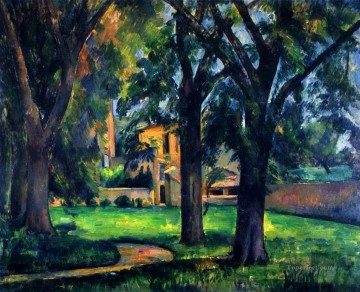 Chestnut Tree and Farm Paul Cezanne scenery Oil Paintings