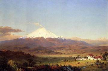 AX Painting - Cotopaxi scenery Hudson River Frederic Edwin Church