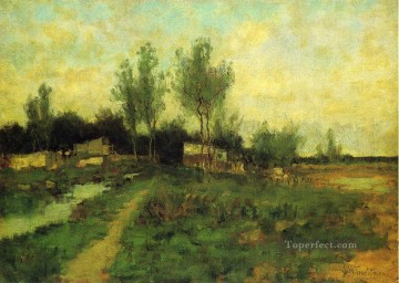 Country Path Impressionist landscape John Henry Twachtman Oil Paintings