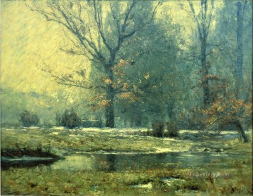 indiana - Creek in Winter Impressionist Indiana landscapes Theodore Clement Steele