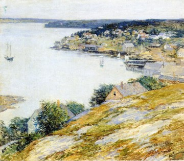 East Boothbay Harbor scenery Willard Leroy Metcalf Oil Paintings