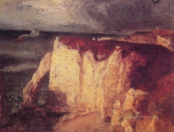 Etretat landscape Tonalist George Inness Oil Paintings