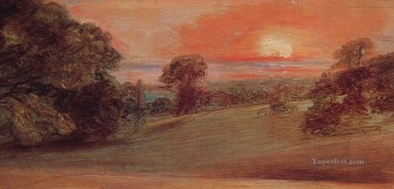 Evening Landscape at East Bergholt Romantic John Constable Oil Paintings