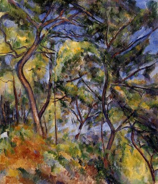 forest Canvas - Forest Paul Cezanne scenery