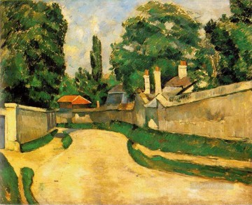 Houses Along a Road Paul Cezanne scenery Oil Paintings