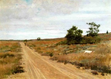 hunting Canvas - Hunting Game in Shinnecock Hills impressionism William Merritt Chase scenery