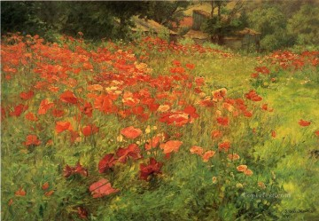 POP Oil Painting - In Poppyland landscape John Ottis Adams