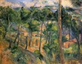 L Estaque View Through The Pines Paul Cezanne scenery
