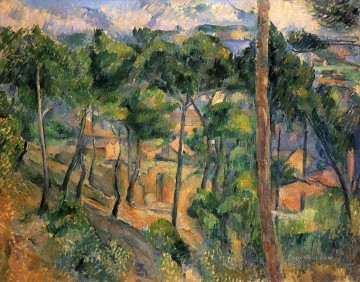 L Estaque View Through The Pines Paul Cezanne scenery Oil Paintings