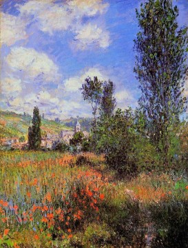 Lane in the Poppy Fields Ile SaintMartin Claude Monet scenery Oil Paintings