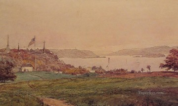 Looking North on the Hudson landscape Jasper Francis Cropsey Oil Paintings