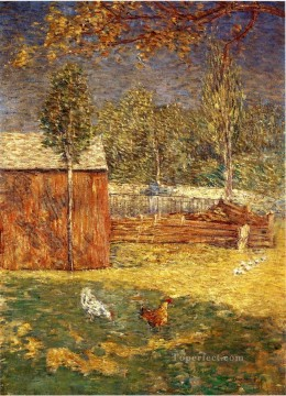 Midday impressionist landscape Julian Alden Weir Oil Paintings