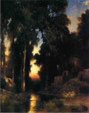 Plain Scenes Painting - Mission in Old Mexico landscape Thomas Moran